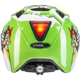 UVEX Finale Helmet LED Kinder green pirate
